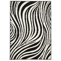 BeautifulSway Black & White Flooring Rug Area Carpet 230x160cm