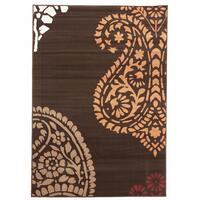 Rug Culture Funky Paisley Design Flooring Rugs Area Carpet Brown 230x160cm