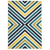 Rug Culture Indoor Outdoor Hex Flooring Rugs Area Carpet Blue Blue Navy 230x160cm