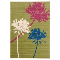 Rug Culture Agapanthus Bud Modern Flooring Rugs Area Carpet Brown Pink 230x160cm