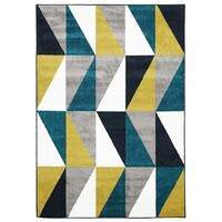 Rug Culture Indoor Outdoor Mica Flooring Rugs Area Carpet Blue Citrus Grey 290x200cm