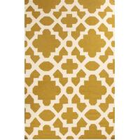 Rug Culture Flat Weave Trellis Design Green White Flooring Rugs Area Carpet 225x155cm