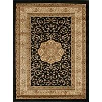 Rug Culture Medallion Classic Pattern Runner Black 300x80cm
