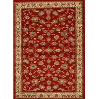 Rug Culture Traditional Floral Pattern Runner Red 400x80cm