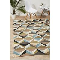 Rug Culture Dimensions Flat Weave Flooring Rugs Area Carpet Blue 225x155cm