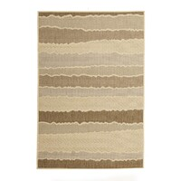 Rug Culture Indoor Outdoor Wave Flooring Rugs Area Carpet Beige Brown 270x180cm