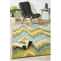 Rug Culture Designer Ikat Flooring Rugs Area Carpet Blue 290x200cm