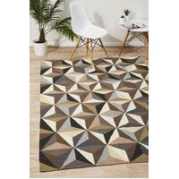 Rug Culture Dimensions Flat Weave Flooring Rugs Area Carpet Grey 225x155cm