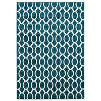 Rug Culture Indoor Outdoor Neo Flooring Rugs Area Carpet Peacock Blue 230x160cm