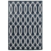 Indoor Outdoor Lucid Flooring Rug Area Carpet Navy 230x160cm