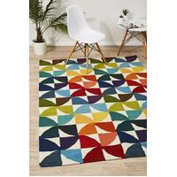 Rug Culture Flat Weave Fun Multi Coloured Flooring Rugs Area Carpet 225x155cm