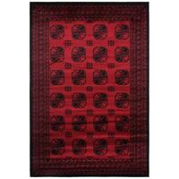 Rug Culture Classic Afghan Design Runner Red 500x80cm