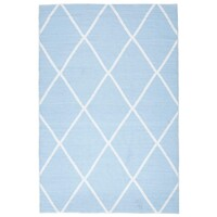 Rug Culture Coastal Indoor Out door Flooring Rugs Area Carpet Diamond Sky Blue White 270x180cm