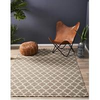 Bazaar Natural Trellis Wool Flat Weave Flooring Rug Area Carpet 225x155cm