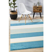 Rug Culture Modern Blue Bands Flooring Rugs Area Carpet 280x190cm