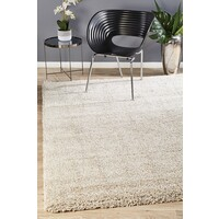 Rug Culture Thick Soft Polar Shag Runner - Linen 400x80cm