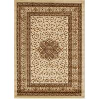 Rug Culture Medallion Classic Pattern Flooring Rugs Area Carpet Ivory 230x160cm