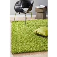 Metallic Noodle Shag Flooring Rug Area Carpet Lime 130x70cm