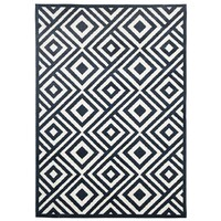 Rug Culture Indoor Outdoor Matrix Flooring Rugs Area Carpet Navy 290x200cm