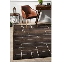 Rug Culture Morrocan Paved Design Flooring Rugs Area Carpet Chocolate 290x200cm
