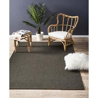 Natural Sisal Flooring Rug Area Carpet Boucle Charcoal 160x110cm