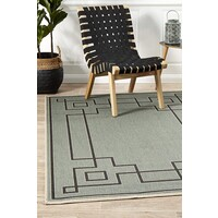 Rug Culture Shanghai Teal Outdoor Flooring Rugs Area Carpet 160X110cm