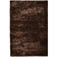 Rug Culture Plaza Soft Shag Flooring Rugs Area Carpet Brown 165x115cm