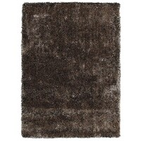 Rug Culture Thick Plush Shimmering Shag Flooring Rugs Area Carpet Gold Black 225x155cm