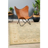 Chobi Design Flooring Rug Area Carpet Light Green Bone 290x200cm