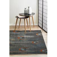 Rug Culture Peacock Feather Austin Flooring Rugs Area Carpet Grey Blue Rust 230x160cm