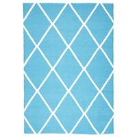 Rug Culture Coastal Indoor Out door Flooring Rugs Area Carpet Diamond Turquoise White 220x150cm