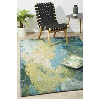Rug Culture Mystical Modern Flooring Rugs Area Carpet Blue 290x200cm