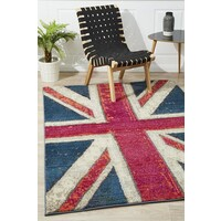 Rug Culture Stunning Union Jack Flooring Rugs Area Carpet Blue 290x200cm