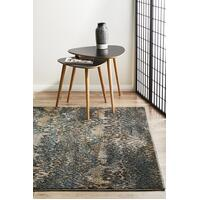Rug Culture Hanna Lace Flooring Rugs Area Carpet Blue Natural 230x160cm