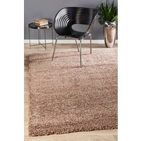 Kensington Shag Flooring Rug Area Carpet - Dark Beige 290x200cm
