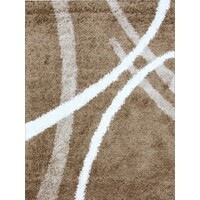 Rug Culture Modern Shag Flooring Rugs Area Carpet Dark Beige 170x120cm