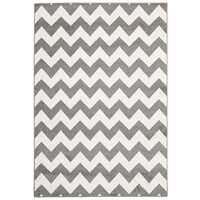 Rug Culture Indoor Outdoor Zig Zag Flooring Rugs Area Carpet Grey 290x200cm