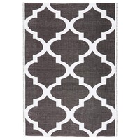 Rug Culture Coastal Indoor Out door Flooring Rugs Area Carpet Trellis Black White 220x150cm