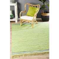 Boho Whimsical Flooring Rug Area Carpet Green 270x180cm