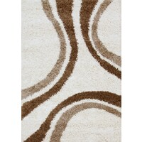 Stylish Curves Flooring Rug Area Carpet Ivory 230x160cm