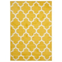 Rug Culture Indoor Outdoor Morocco Flooring Rugs Area Carpet Yellow 290x200cm
