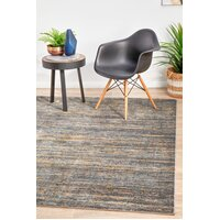 Rug Culture Distinguish Modern Slate Runner 300x80cm