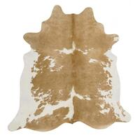 Rug Culture Exquisite Natural Cow Hide Beige White 170x180cm