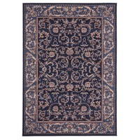 Rug Culture Classic Pattern Navy Blue Flooring Rugs Area Carpet 280x190cm