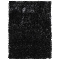 Thick Plush Shimmering Shag Flooring Rug Area Carpet Carbon 225x155cm
