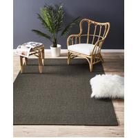 Natural Sisal Runner Boucle Charcoal 400x80cm