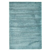Rug Culture Soft Dense Plain Blue Shag Flooring Rugs Area Carpet 290x200cm