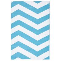 Rug Culture Coastal Indoor Out door Flooring Rugs Area Carpet Chevron Turquoise White 220x150cm