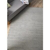Herring Bone Chevron Flooring Rug Area Carpet Navy Blue 320x230cm