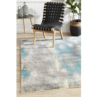 Rug Culture Hannah Matrix Flooring Rugs Area Carpet Blue Grey 290x200cm